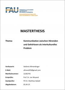 Masterarbeit Stefanie Allmendinger